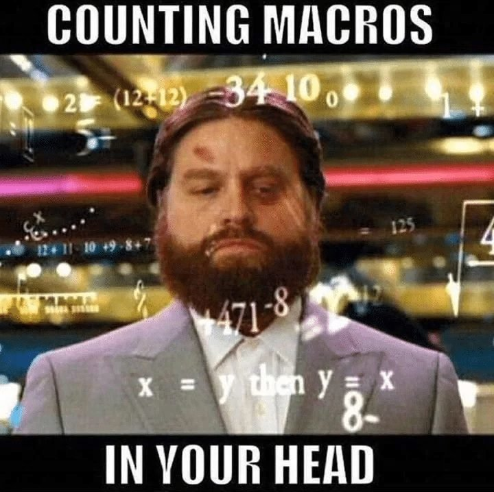 Why some people fail counting macros