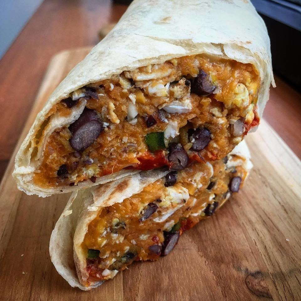 Sweet Potato Breakfast Burrito